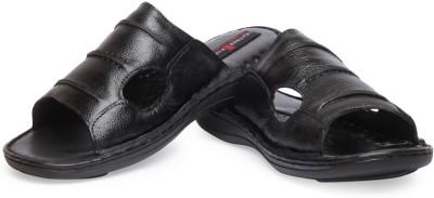 Leather King Hyderabad Black Men Black Sandals