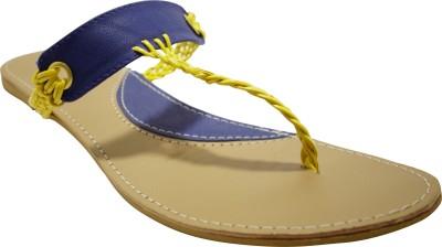 Shiela Women Blue, Yellow Flats