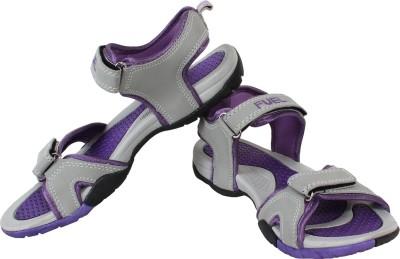 Fuel Women Grey, Purple Sports Sandals