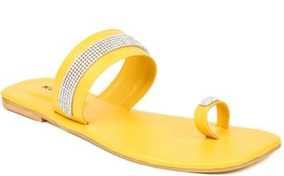 Kosher Klss024-Yellow Women Yellow Flats