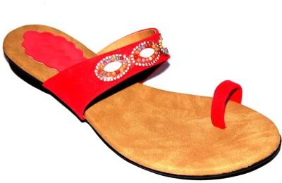 Angeela Girls Red Flats