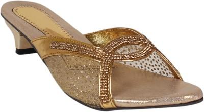 Footshez Women Gold Heels