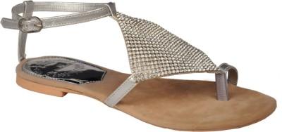 Zoe Skodon Women Silver Flats