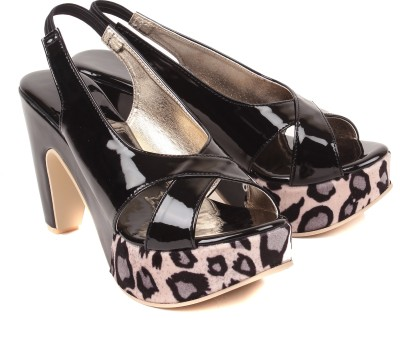 bare soles Women Black Heels
