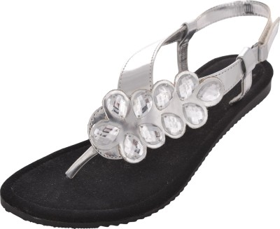 Wear N Walk Women Silver Flats