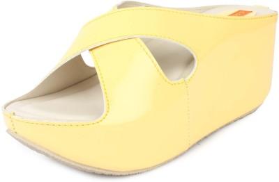 Cara Mia Women Yellow Wedges