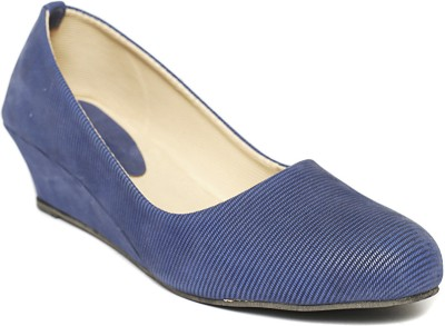 Foot Jewel Women Blue Wedges