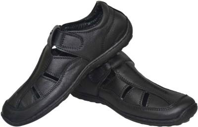 Jenfars Men Black Sandals
