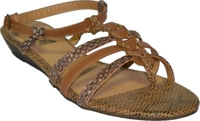 TSF Camel Sandal Women Beige Flats