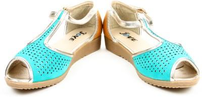 Jove Women Blue Heels