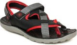 Walkline Men Black Sports Sandals