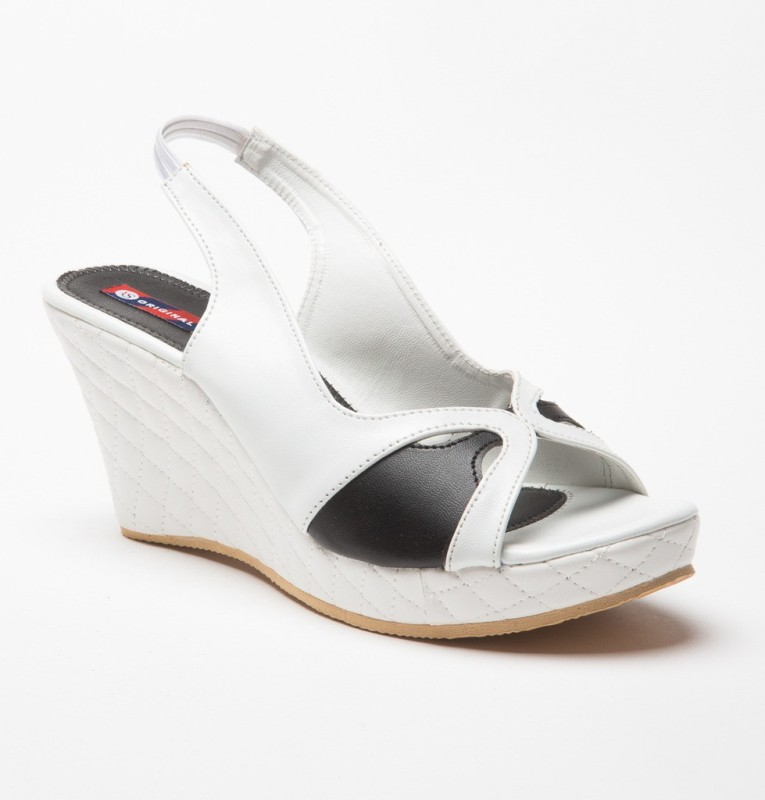 American Swan Women White Wedges