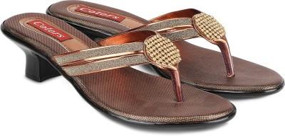Agastya Women Gold, Brown Heels