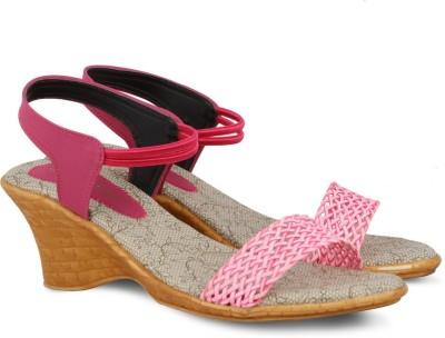 Touristor Women Pink Wedges