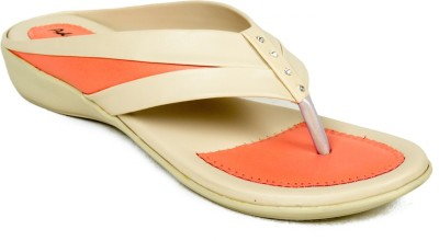 Adjoin Steps Women Orange Flats