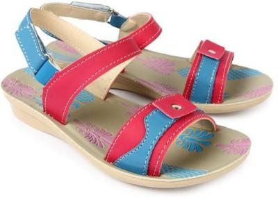 Liberty Girls Pink Sports Sandals