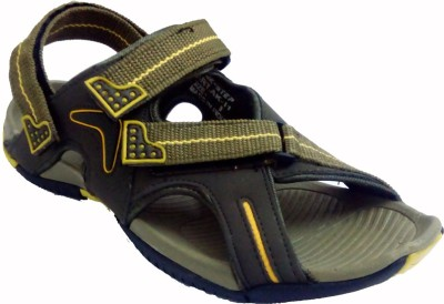 Rockstep Men,s Floater Sandals Mehendi Yellow PS011 Men Yellow Sandals