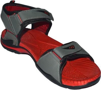 Skydo Men Red, Grey Sandals