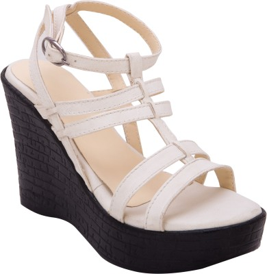 Trotters Women White Wedges