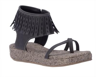 Fabme Women Grey Heels