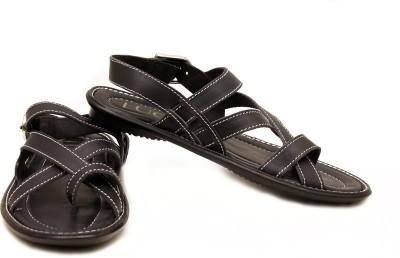 Luca Fashion Men Black Sandals