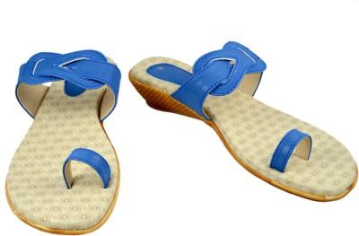 Walk N See Women Blue Flats