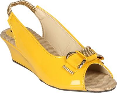 Sporch Women Yellow Wedges