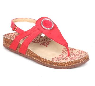 Aqua Women Red Flats