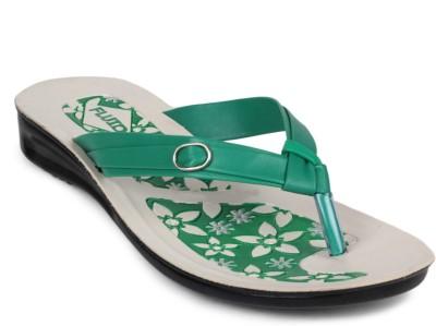 Fluid Pu Ladies Women Green Flats