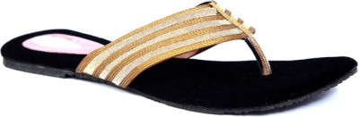 Laila Collections LATE0050800GW Women Gold, Beige Flats