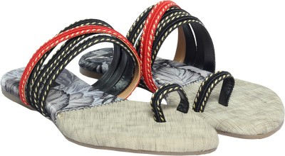Cocoon Women Black, Red Flats