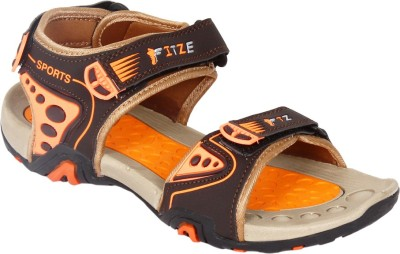 FITZE Men Orange Sports Sandals