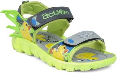Action KS-124 Boys Grey, Green Sandals