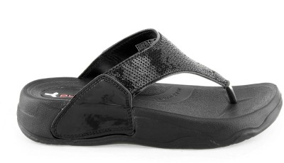 Pure- Welcome Women Black Flats