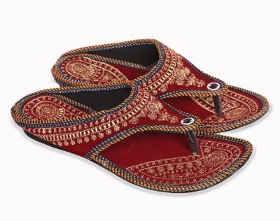 Gaur Women Maroon Flats