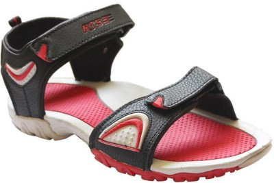 RTS Men Black, Red Sandals