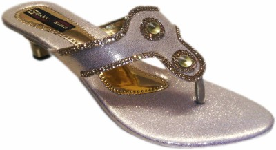 Satnam Women Gold Heels