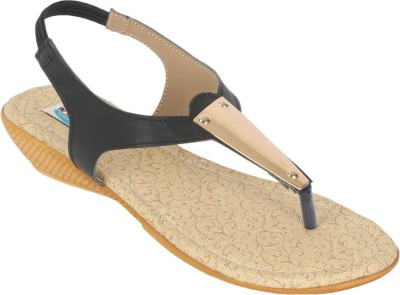 walk n style Women Black Heels