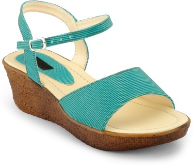Something Different Women Brown, Blue Wedges
