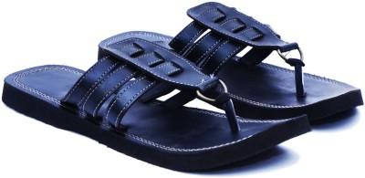 Manthana Men Black Sandals