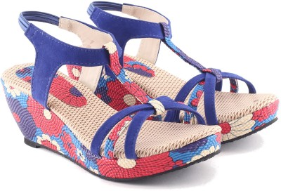 Cenizas Collage Fly 2 Women Blue Wedges
