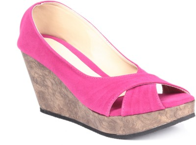 Soft & Sleek 1256 Red Women Pink Wedges