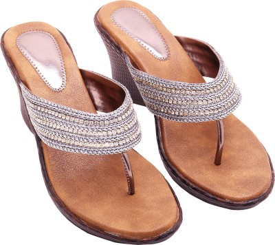 Royal Collection Women Silver Wedges