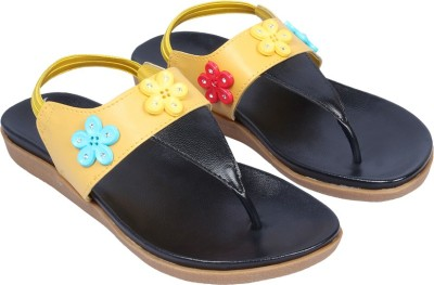 Small Toes Baby Girls Yellow Sandals