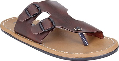 Emosis Men Maroon, Brown Sandals