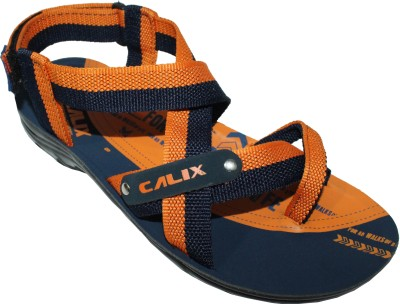 Calix Men Blue, Orange Sandals