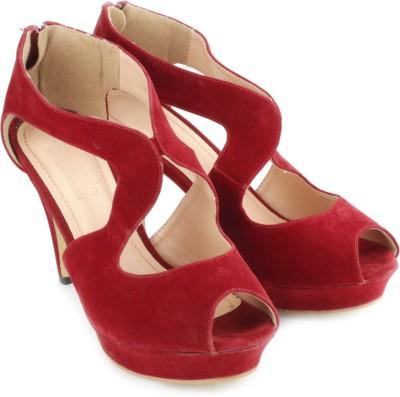 Tresmode Kelparty Women Red Heels