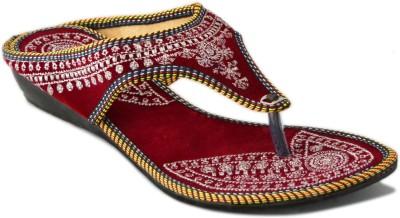 Myra Women Red Flats