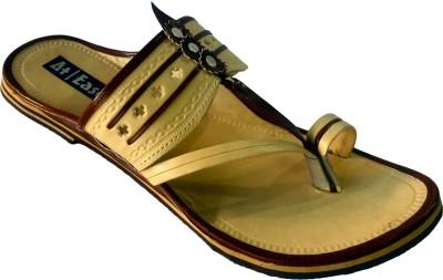 Atease Kolhapuri Men Brown Sandals