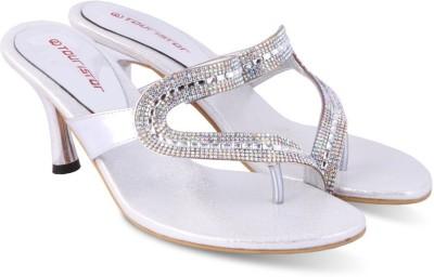 Touristor Women Silver Heels
